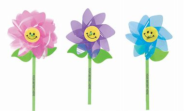 Smile Face Flower Pinwheels | Fun Impressions