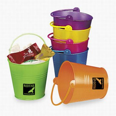 Metallic Plated Plastic Bright Pails | Fun Impressions