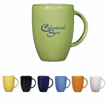 Europe 12oz Stoneware Mug - Solid Colors | Fun Impressions