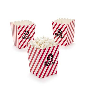 Mini Red & White Popcorn Buckets | Fun Impressions