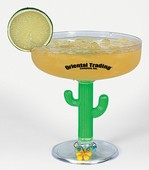 14 Oz Margarita Cactus Glass Wholesale Bulk