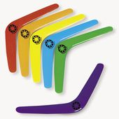 Plastic Bright Colors Boomerangs