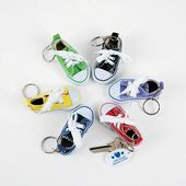Tennis Shoe Key Chains with Imprinted Tag