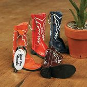 Cowboy Boot Key Chains With Imprinted Keytag