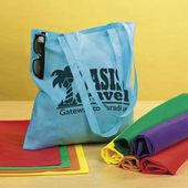 "15 1/2"" Nonwoven Asst. Color Tote Bags"