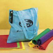 "15 1/2"" Nonwoven Asst. Neon Color Tote Bags"