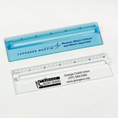 "Plastic 6"" Ruler with Magnifying Strip"