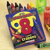 8 Pc Crayons Super Size Imprinted