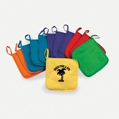 Colorful Canvas Pot Holders Imprinted