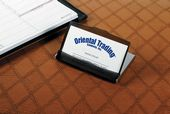 Travel Or Desktop Business Card Holder