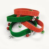 Jingle Holiday Sayings Bracelets - Bulk