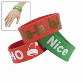 Christmas Big Band Silicone Bracelets