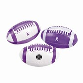 Purple Ribbon Footballs