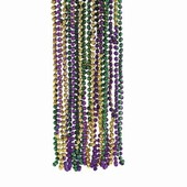 Mardi Gras Tri-Color Necklaces