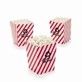 Mini Red & White Popcorn Buckets