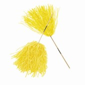 Yellow Spirit Pom Poms