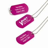 Pink Dog Tags