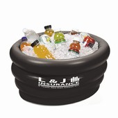 Black Inflatable Tub Cooler