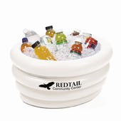 White Inflatable Tub Cooler