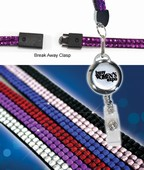 Bling Lanyard with Rectractable Badge Holder